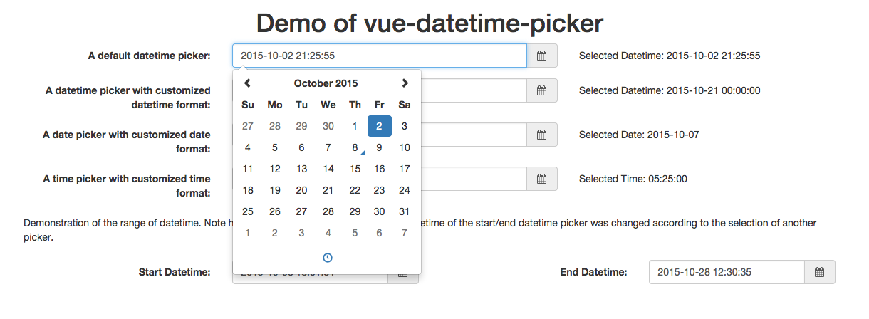 Vue-datetime-picker by Haixing-Hu