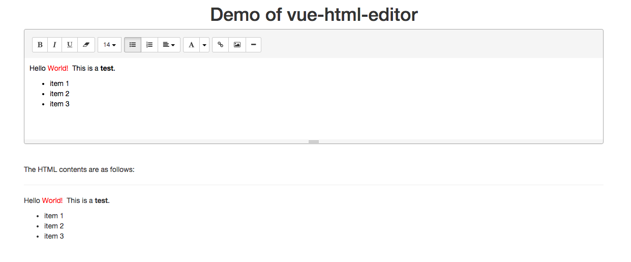 Vue-html-editor by Haixing-Hu